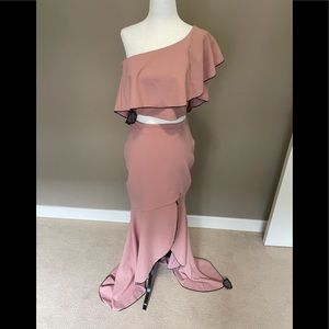 Symphony Two Piece Evening Gown - Blush Pink - Lrg